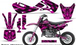 Kawasaki KLX110 02 09 KX65 02 12 CreatorX Graphics Kit Tribal Madness Pink 150x90 - Kawasaki KX65 2002-2017 Graphics