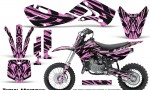 Kawasaki KLX110 02 09 KX65 02 12 CreatorX Graphics Kit Tribal Madness PinkLite 150x90 - Kawasaki KX65 2002-2017 Graphics