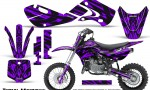 Kawasaki KLX110 02 09 KX65 02 12 CreatorX Graphics Kit Tribal Madness Purple 150x90 - Kawasaki KX65 2002-2017 Graphics