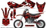 Kawasaki KLX110 02 09 KX65 02 12 CreatorX Graphics Kit Tribal Madness Red 150x90 - Kawasaki KX65 2002-2017 Graphics