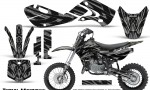 Kawasaki KLX110 02 09 KX65 02 12 CreatorX Graphics Kit Tribal Madness Silver 150x90 - Kawasaki KX65 2002-2017 Graphics