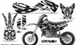 Kawasaki KLX110 02 09 KX65 02 12 CreatorX Graphics Kit Tribal Madness White 150x90 - Kawasaki KX65 2002-2017 Graphics