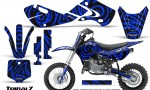 Kawasaki KLX110 02 09 KX65 02 12 CreatorX Graphics Kit TribalZ Blue 150x90 - Kawasaki KX65 2002-2017 Graphics