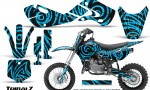 Kawasaki KLX110 02 09 KX65 02 12 CreatorX Graphics Kit TribalZ BlueIce 150x90 - Kawasaki KX65 2002-2017 Graphics