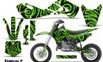 Kawasaki KLX110 02 09 KX65 02 12 CreatorX Graphics Kit TribalZ Green 150x90 - Kawasaki KX65 2002-2017 Graphics