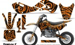 Kawasaki KLX110 02 09 KX65 02 12 CreatorX Graphics Kit TribalZ Orange 150x90 - Kawasaki KX65 2002-2017 Graphics