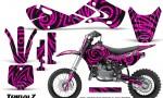 Kawasaki KLX110 02 09 KX65 02 12 CreatorX Graphics Kit TribalZ Pink 150x90 - Kawasaki KX65 2002-2017 Graphics