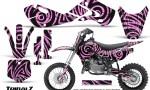 Kawasaki KLX110 02 09 KX65 02 12 CreatorX Graphics Kit TribalZ PinkLite 150x90 - Kawasaki KX65 2002-2017 Graphics