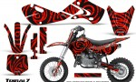 Kawasaki KLX110 02 09 KX65 02 12 CreatorX Graphics Kit TribalZ Red 150x90 - Kawasaki KX65 2002-2017 Graphics