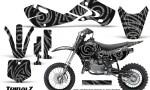 Kawasaki KLX110 02 09 KX65 02 12 CreatorX Graphics Kit TribalZ Silver 150x90 - Kawasaki KX65 2002-2017 Graphics