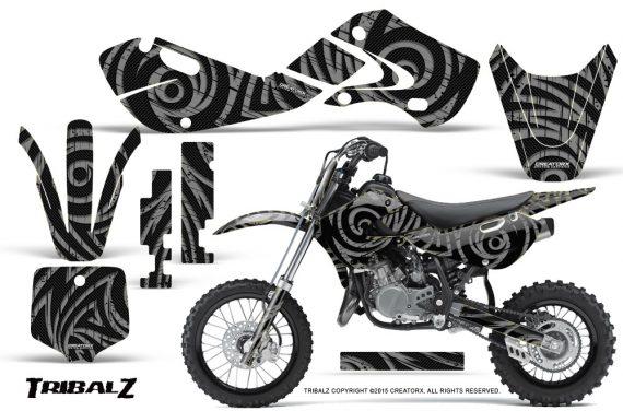 Kawasaki KLX110 02 09 KX65 02 12 CreatorX Graphics Kit TribalZ Silver 570x376 - Kawasaki KX65 2002-2017 Graphics