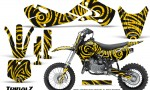 Kawasaki KLX110 02 09 KX65 02 12 CreatorX Graphics Kit TribalZ Yellow 150x90 - Kawasaki KX65 2002-2017 Graphics