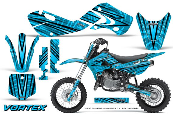 Kawasaki KLX110 02 09 KX65 02 12 CreatorX Graphics Kit VorteX BlueIce 570x376 - Kawasaki KX65 2002-2017 Graphics