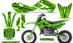 Kawasaki KLX110 02 09 KX65 02 12 CreatorX Graphics Kit VorteX Green 150x90 - Kawasaki KX65 2002-2017 Graphics