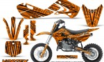 Kawasaki KLX110 02 09 KX65 02 12 CreatorX Graphics Kit VorteX Orange 150x90 - Kawasaki KX65 2002-2017 Graphics