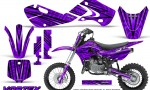Kawasaki KLX110 02 09 KX65 02 12 CreatorX Graphics Kit VorteX Purple 150x90 - Kawasaki KX65 2002-2017 Graphics