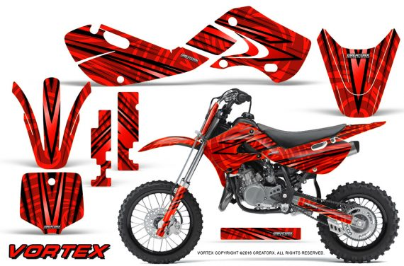 Kawasaki KLX110 02 09 KX65 02 12 CreatorX Graphics Kit VorteX Red 570x376 - Kawasaki KX65 2002-2017 Graphics