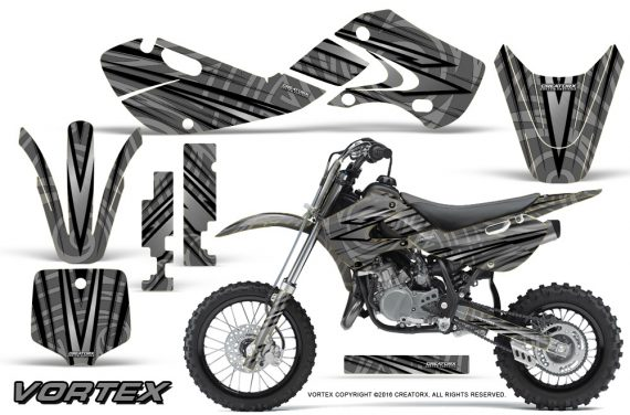 Kawasaki KLX110 02 09 KX65 02 12 CreatorX Graphics Kit VorteX Silver 570x376 - Kawasaki KX65 2002-2017 Graphics
