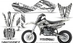 Kawasaki KLX110 02 09 KX65 02 12 CreatorX Graphics Kit VorteX White 150x90 - Kawasaki KX65 2002-2017 Graphics