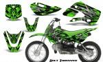 Kawasaki KLX110 KX65 CreatorX Graphics Kit Bolt Thrower Green 150x90 - Kawasaki KLX110 2002-2009 Graphics