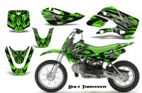 Kawasaki-KLX110-KX65-CreatorX-Graphics-Kit-Bolt-Thrower-Green