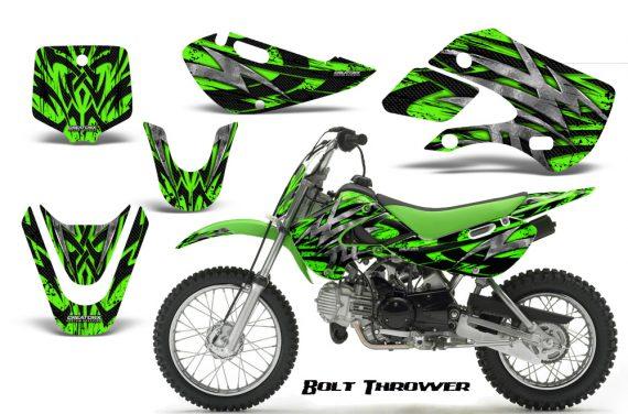 Kawasaki KLX110 KX65 CreatorX Graphics Kit Bolt Thrower Green 570x376 - Kawasaki KLX110 2002-2009 Graphics
