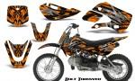 Kawasaki KLX110 KX65 CreatorX Graphics Kit Bolt Thrower Orange 150x90 - Kawasaki KLX110 2002-2009 Graphics