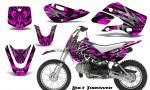 Kawasaki KLX110 KX65 CreatorX Graphics Kit Bolt Thrower Pink 150x90 - Kawasaki KLX110 2002-2009 Graphics
