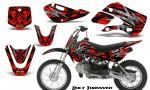 Kawasaki KLX110 KX65 CreatorX Graphics Kit Bolt Thrower Red 150x90 - Kawasaki KLX110 2002-2009 Graphics