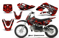 Kawasaki-KLX110-KX65-CreatorX-Graphics-Kit-Bolt-Thrower-Red