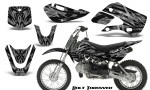 Kawasaki KLX110 KX65 CreatorX Graphics Kit Bolt Thrower Silver 150x90 - Kawasaki KLX110 2002-2009 Graphics