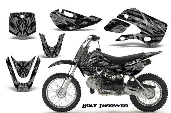 Kawasaki KLX110 KX65 CreatorX Graphics Kit Bolt Thrower Silver 570x376 - Kawasaki KLX110 2002-2009 Graphics