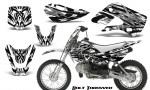 Kawasaki KLX110 KX65 CreatorX Graphics Kit Bolt Thrower White 150x90 - Kawasaki KLX110 2002-2009 Graphics