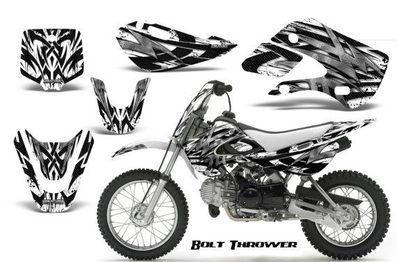 Kawasaki KLX110 KX65 CreatorX Graphics Kit Bolt Thrower White 570x376 - Kawasaki KLX110 2002-2009 Graphics