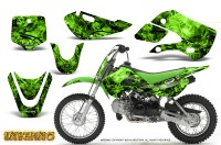 Kawasaki-KLX110-KX65-CreatorX-Graphics-Kit-Inferno-Green