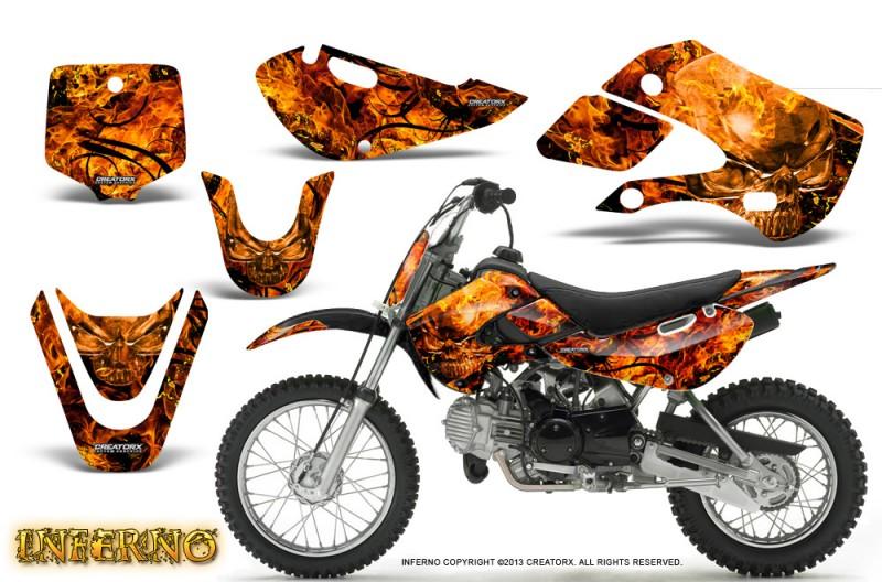 Kawasaki-KLX110-KX65-CreatorX-Graphics-Kit-Inferno-Orange