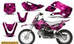 Kawasaki KLX110 KX65 CreatorX Graphics Kit Inferno Pink 150x90 - Kawasaki KLX110 2002-2009 Graphics