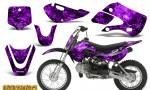 Kawasaki KLX110 KX65 CreatorX Graphics Kit Inferno Purple 150x90 - Kawasaki KLX110 2002-2009 Graphics