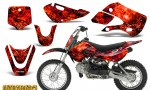 Kawasaki KLX110 KX65 CreatorX Graphics Kit Inferno Red 150x90 - Kawasaki KLX110 2002-2009 Graphics