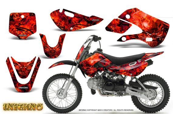 Kawasaki KLX110 KX65 CreatorX Graphics Kit Inferno Red 570x376 - Kawasaki KLX110 2002-2009 Graphics