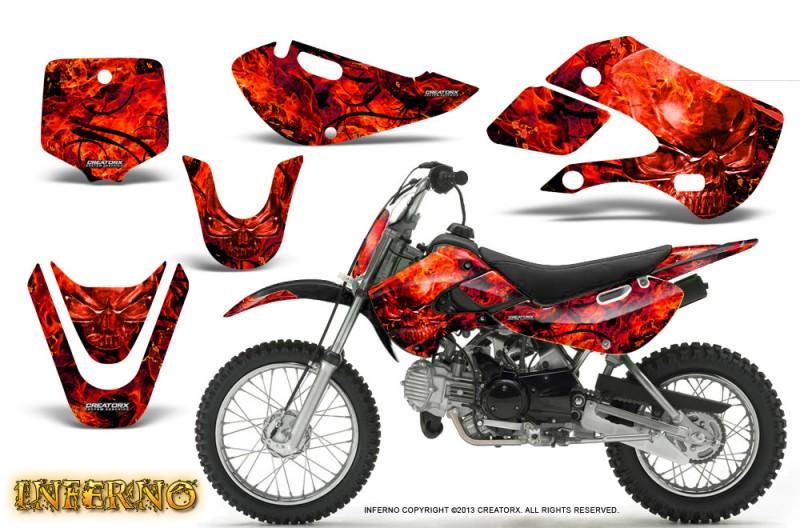 Kawasaki-KLX110-KX65-CreatorX-Graphics-Kit-Inferno-Red