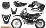 Kawasaki KLX110 KX65 CreatorX Graphics Kit Inferno Silver 150x90 - Kawasaki KLX110 2002-2009 Graphics