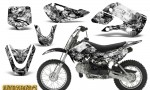 Kawasaki KLX110 KX65 CreatorX Graphics Kit Inferno White 150x90 - Kawasaki KLX110 2002-2009 Graphics
