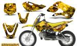 Kawasaki KLX110 KX65 CreatorX Graphics Kit Inferno Yellow1 150x90 - Kawasaki KLX110 2002-2009 Graphics