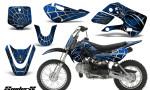 Kawasaki KLX110 KX65 CreatorX Graphics Kit SpiderX Blue 150x90 - Kawasaki KLX110 2002-2009 Graphics