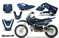Kawasaki-KLX110-KX65-CreatorX-Graphics-Kit-SpiderX-Blue