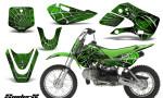 Kawasaki KLX110 KX65 CreatorX Graphics Kit SpiderX Green 150x90 - Kawasaki KLX110 2002-2009 Graphics
