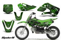Kawasaki-KLX110-KX65-CreatorX-Graphics-Kit-SpiderX-Green