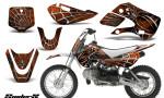 Kawasaki KLX110 KX65 CreatorX Graphics Kit SpiderX Orange 150x90 - Kawasaki KLX110 2002-2009 Graphics
