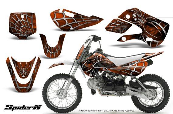 Kawasaki KLX110 KX65 CreatorX Graphics Kit SpiderX Orange 570x376 - Kawasaki KLX110 2002-2009 Graphics